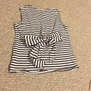 Striped shirt with tie